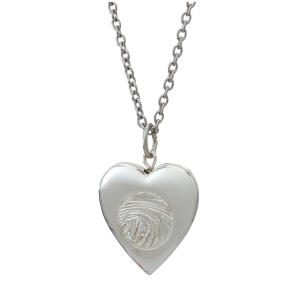 Fingerprint Pendant-Heart